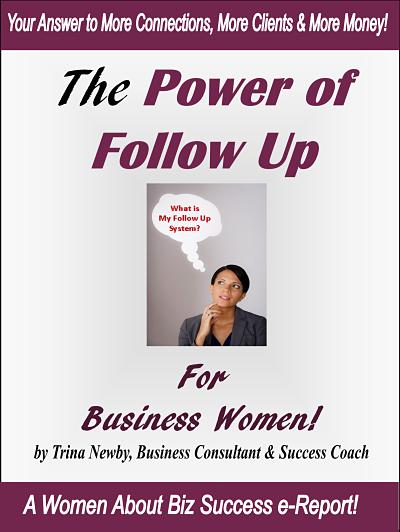 power of follow up for business women 400